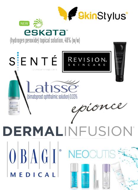 Microderm Abrasion Laser Facials Chemical Peels Brands: Eskata, Neocutis, Latisse, Epionce, Revision Skincare, Obagi